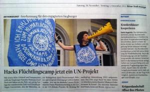 Artikel Kölner Stadtanzeiger CRC UN-Projekt 131130_2490